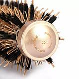 Керамико алюминиевая, профессиональная расческа для волос круглая, фото 8