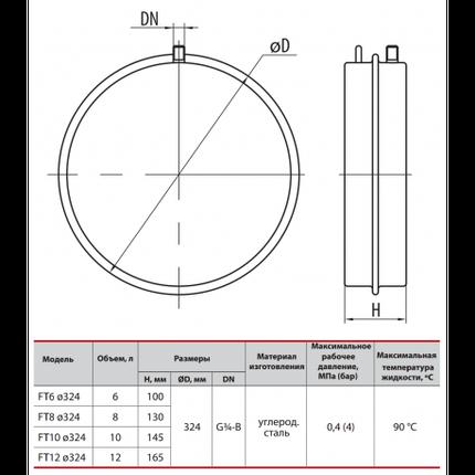 Расширительный бак SPRUT FT 8D.324, фото 2
