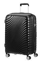 Валіза від  American Tourister JETGLAM чорний/black , полікарбонат , 40×55×20см , 35.5 л , 71G-19001