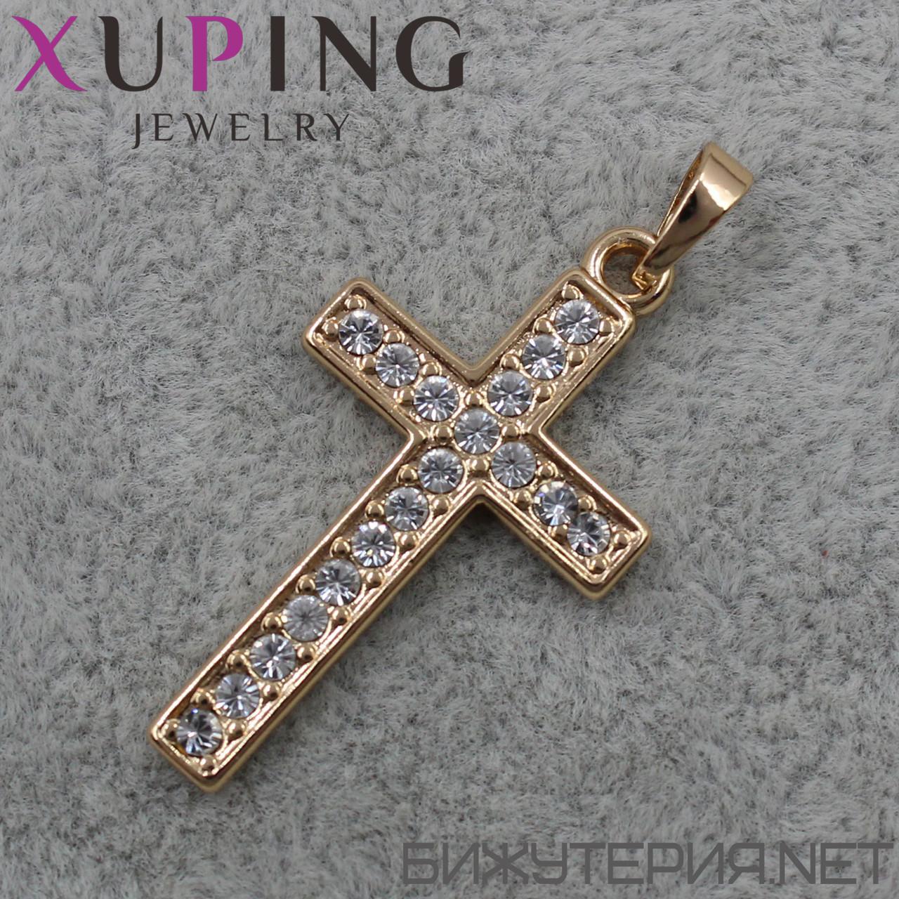 Крестик Xuping медицинское золото 30 х 16 мм