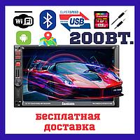 2Din магнитола на авто Fantom FP-7090 Black/Red