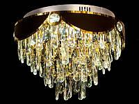 Хрустальная люстра потолочная в классическом стиле  хром/золото С-9303-500