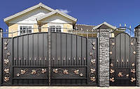 Ворота металлические, кованые ворота, ворота, недорогие ворота, ковані ворота, металеві ворота