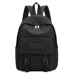 Рюкзак городской однотонный чёрный водонепроницаемый Rassonet (AV225)