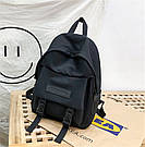 Рюкзак городской однотонный чёрный с водонепроницаемой пропиткой., фото 3