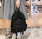 Рюкзак городской однотонный чёрный с водонепроницаемой пропиткой., фото 8