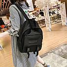Рюкзак городской однотонный чёрный с водонепроницаемой пропиткой., фото 9