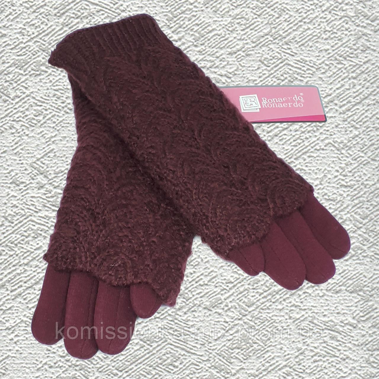 Перчатки женские с митенками и сенсором