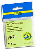 Стикеры для заметок 75 x 75 мм неон BM.2312-98 Buromax