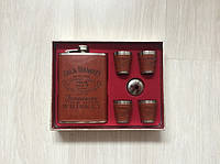Подарочный набор фляга со стопками Jack Daniels brown