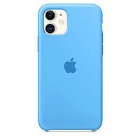 Чехол для iPhone 11 Silicone case голубой