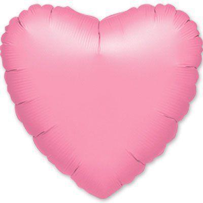 Фольговані кулі без малюнка серце 18/45 металлик лавандовий lavender(США)