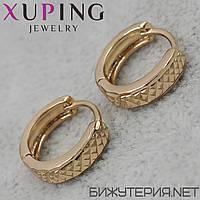 Серьги Xuping медицинское золото 18K Gold -1031533267