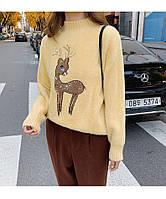 Теплый пушистый свитер на девочку 44-48 (в расцветках)