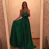 Платье женское вечернее в пол , ткань атлас , цвет только такой ЛЯ № прелесть