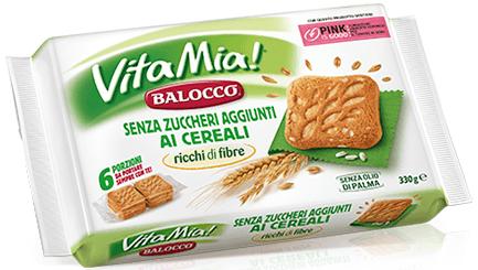 Злакове печиво без цукру, Balocco Vita Mia
