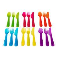 """ИКЕА """"КАЛАС"""" Столовый набор,18 предметов, разные цвета"""