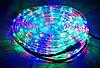 Лента светодиодная, LED  шланг RGB (Трехцветный), 18м, с контролером 220в  (7191)