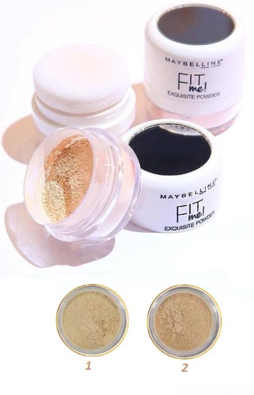 Пудра рассыпчатая Maybelline Fit me Exquisite Powder (ПАЛИТРА 2 шт №01,02)   0360