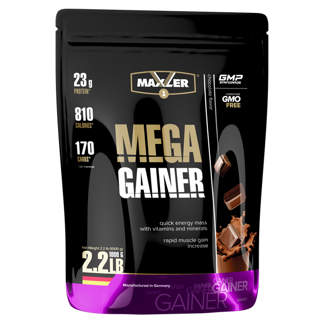 Maxler Mega Gainer 1000 г – клубника
