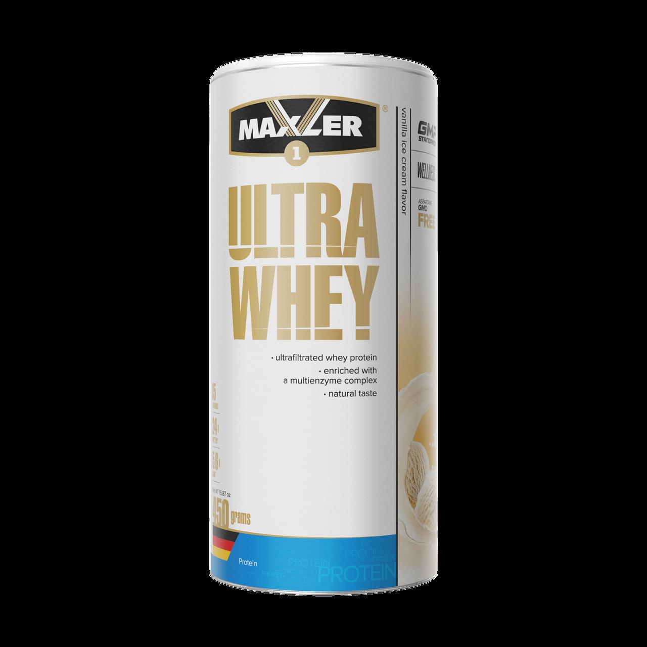 Maxler Ultra Whey 450 г – ванильное мороженое