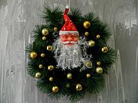 Різдв'яний вінок з сантою 45 см Рождественский венок с сантой
