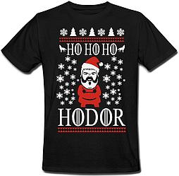 Футболка Game Of Thrones - Ho Ho Ho Hodor (чёрная)