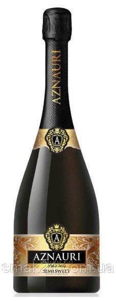Вино (шампанское) игристое Aznauri полусладкое белое 0.75л 10-13%