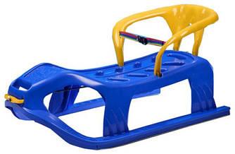 Детские санки Marmat пластиковые, на верёвке, синие