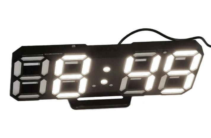 Часы настольные LED Caixing CX-2218 5398 с белой подсветкой