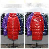 Женская куртка пуховик  ниже колена  (био пух) LUSSKIRI 9152
