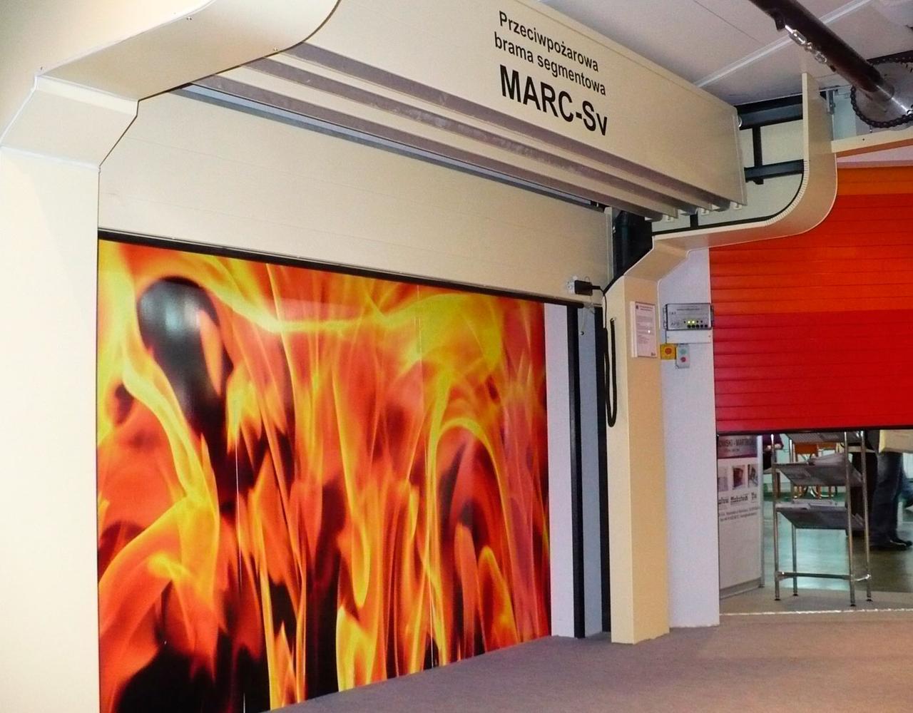 Секционные противопожарные ворота Alutech Fire MARC-Sv