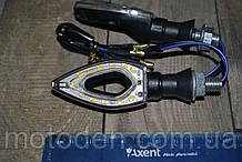 Поворотники светодиодные сквозные капли (пара) желтый свет (вариант 1)