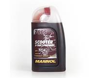 МОТОРНОЕ СИНТЕТИЧЕСКОЕ  МАСЛО MANNOL 7805 SCOOTER 2-TAKT PREMIUM API TC+ 1л.