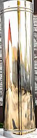 Труба дымоходная L 1000 нерж стенка 0,5 мм