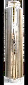 Труба радиатор дымоходная L 500 мм нерж стенка 0,8 мм