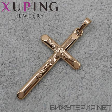 Крестик Xuping медицинское золото 36 х 19 мм, фото 2