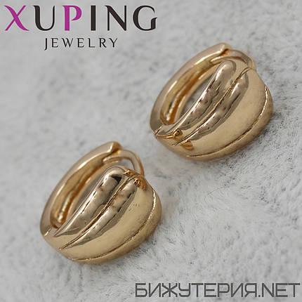 Серьги Xuping медицинское золото 18K Gold - 1029242850, фото 2