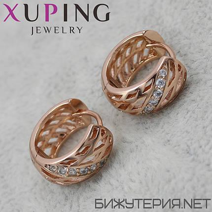 Серьги Xuping медицинское золото 18K Gold - 1029267167, фото 2