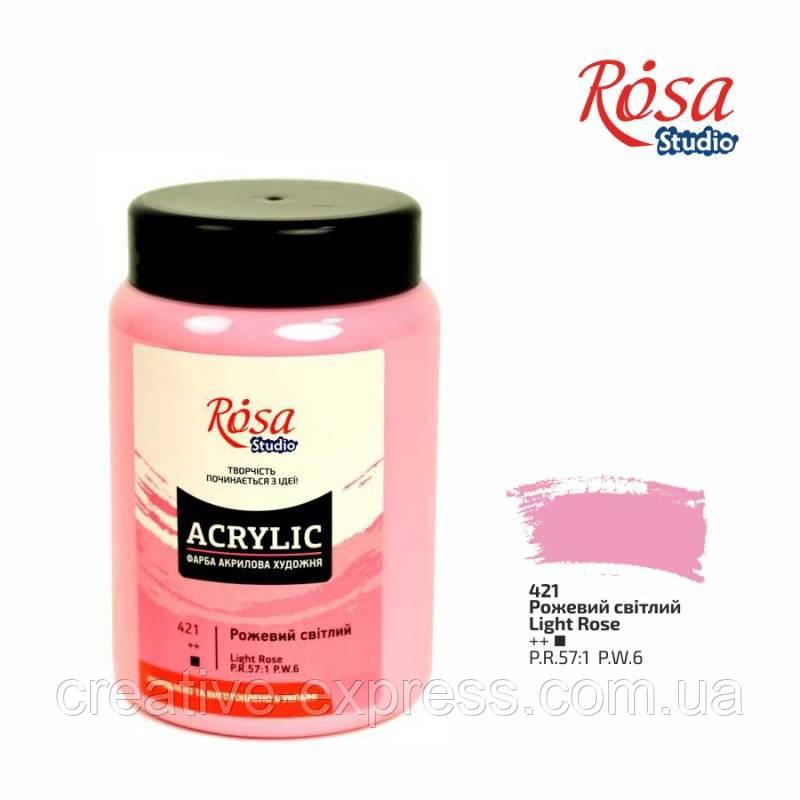 Фарба акрилова, Рожева світла, 400 мл, ROSA Studio