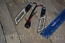 Поворотники светодиодные сквозные параллелограммы (пара) желтый свет (вариант 2)