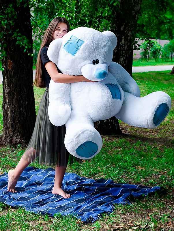 Плюшевый Мишка 180см.Большой  Мишка Потап игрушка Плюшевый медведь Мягкие мишки игрушки Ведмедик (Белый)