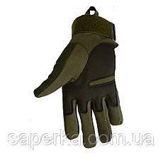 Тактические военные перчатки Oakley. Цвет олива, фото 3