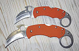 Нож керамбит  Spyderco оранжевый, маленький, фото 2