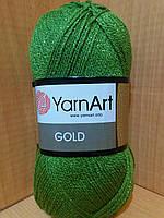 Акриловая пряжа с люрексом YarnArt Gold 9046(фисташковый)