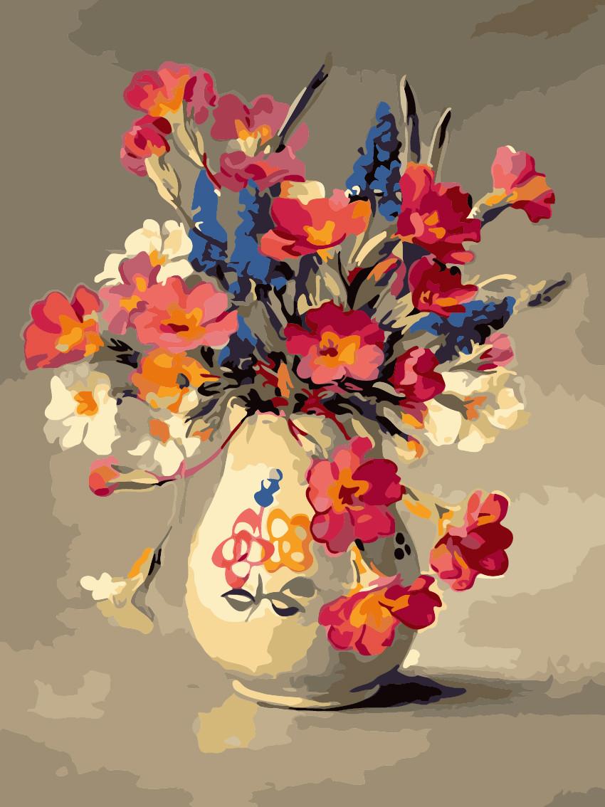 Художественный творческий набор, картина по номерам Летний букет, 30x40 см, «Art Story» (AS0215)