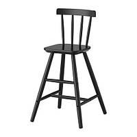 """ИКЕА """"АГАМ"""" Детский стул,  черный"""