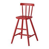 """ИКЕА """"АГАМ"""" Детский стул, красный"""