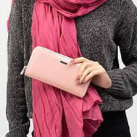 Кошелек женский кожаный лаковый Kafa с RFID защитой (BC74 pink)