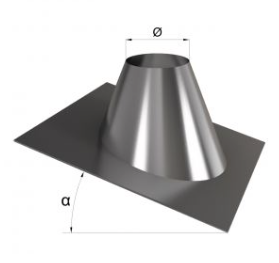 Крыза для дымохода оцинкованная угол 15-30°